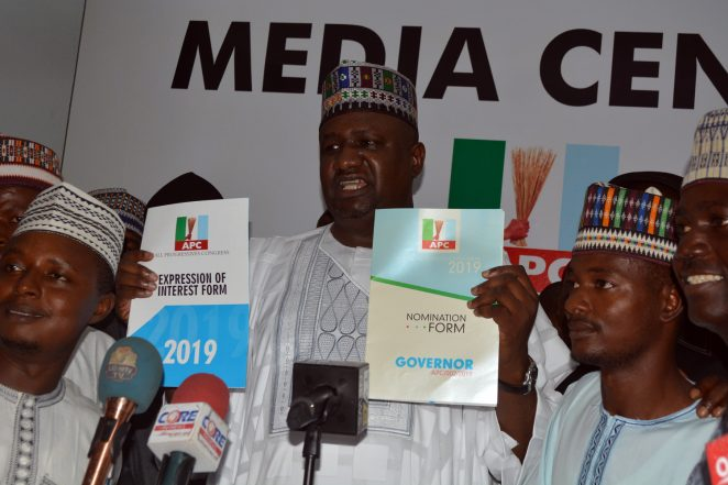 Gombe 2019: APC Ex-Youth Leader Picks Nomination Forms