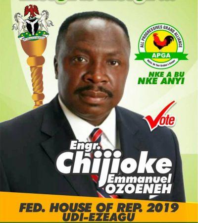 Ozoeneh Wins APGA Ticket For House Of Rep, Udi Ezeagu, Enugu