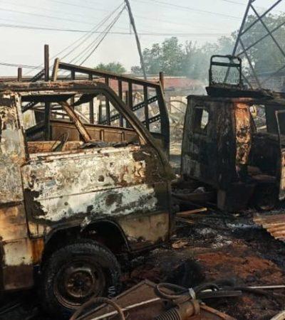 19 Vehicles Burnt As Fire Razes Mechanic Workshop In Anambra