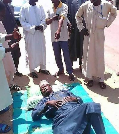 Drama As Man Lays On The Road In Zamfara To Protest Against Buhari.