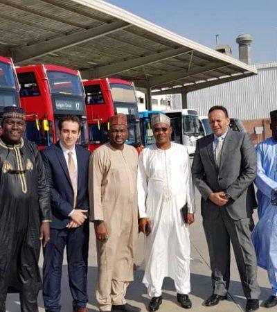 Ganduje Launches Modern Groundbreaking Mass Transit System