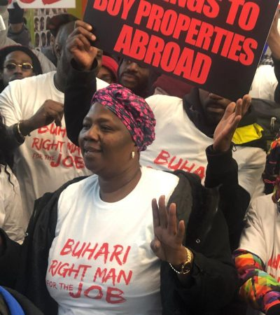 Onnoghen: Protest Breaks Out In London As Nigerians Ask UK To Support Buhari Kill Corruption
