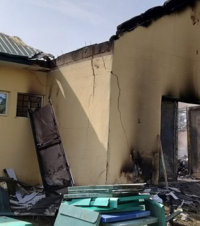 Thugs Burn INEC Office In Akwa Ibom