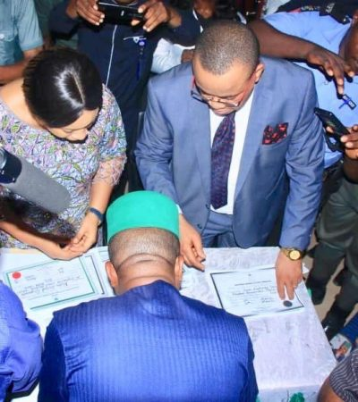 Ugwuanyi, Ihedioha Others Receive Certificates Of Return From INEC