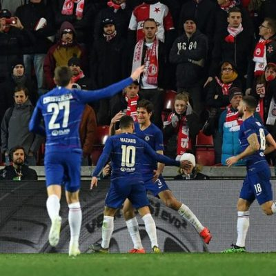 Chelsea beat Slavia 4-3 to book Europa League last-four place