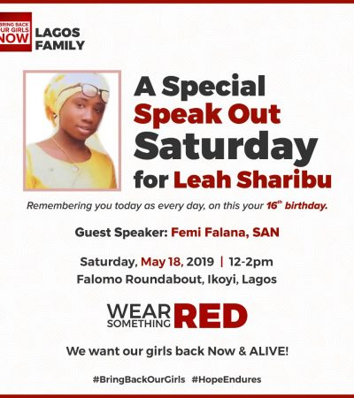 Speak Out Saturday For Leah Sharibu
