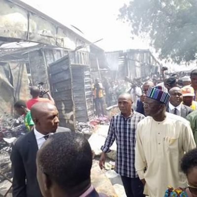 Ortom Donates 50M ToModern Market Fire Victims