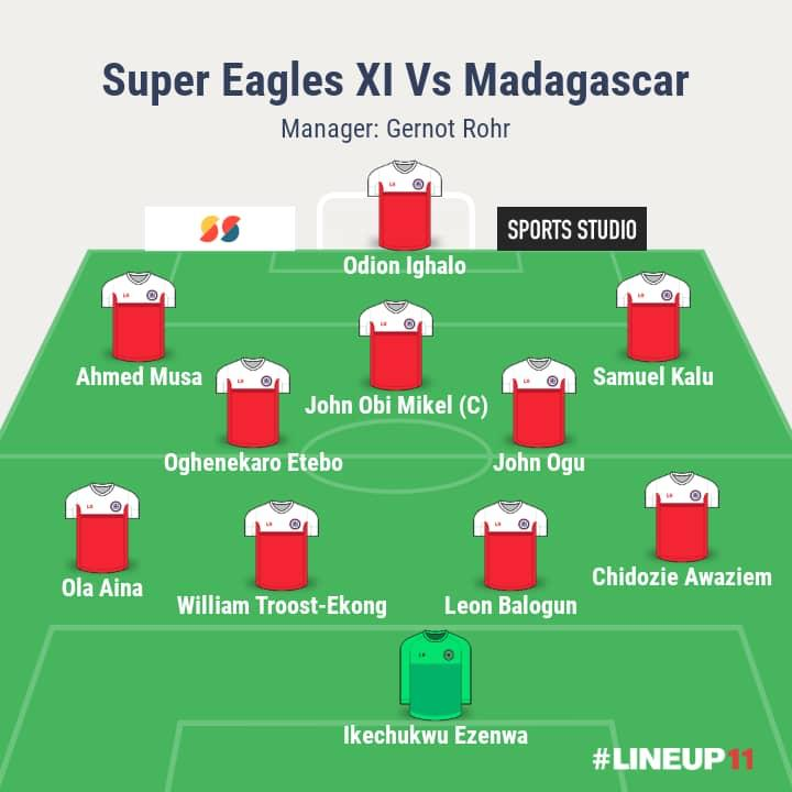 AFCON 2019: Rohr makes five changes as Super Eagles face Madagascar
