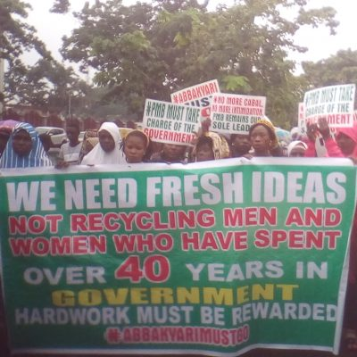 """Sack Mamman Daura, Abba Kyari"" APC Protesters Demand In Abuja"