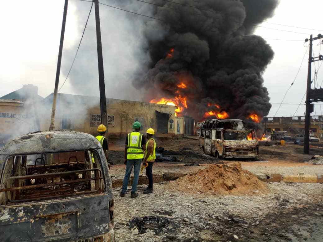 Two dead as vandalised pipeline causes fire in Lagos community
