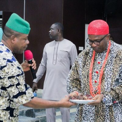 Governor Ihedioha tasks traditional rulers on the rebuilding of the state