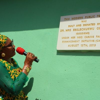Igwe Orizu Commends Osodieme for Campaign Against Open Defecation