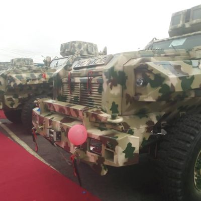 Army inaugurates 4 locally-made mine resistant vehicles