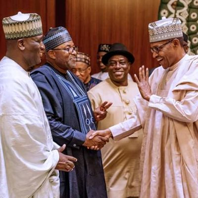 Buhari Receives Gov Abubakar Two Days After EFCC Accused Him Of Money Laundering