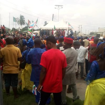 Okorocha Returns, Received By A Mammoth Crowd Of Excited Imo Citizens