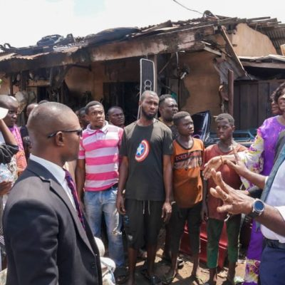 Obaseki assures victims of auto spare parts market inferno of govt support