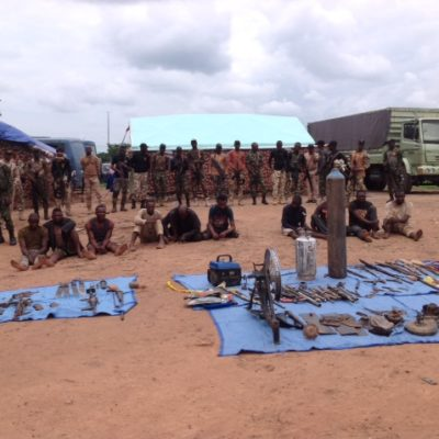 OPWS Parades 10 Suspects For kidnapping, Rustling, Illegal Arms Manufacturing