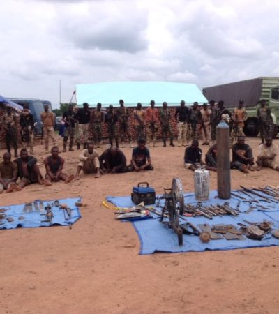 OPWS Parades 10 Suspects Forkidnapping, Rustling, Illegal Arms Manufacturing