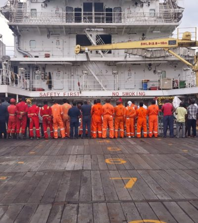 Navy detains 57 sailors over crude oil smuggling, refining