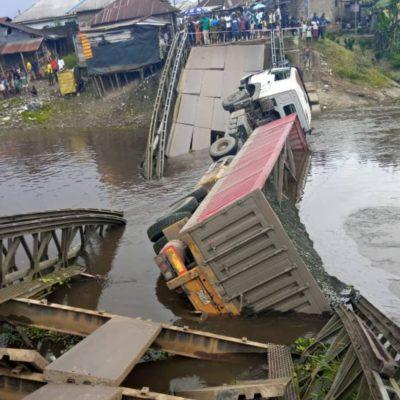 33-Year-Old Bridge Linking Jonathan's Village To Yenagoa Collapses