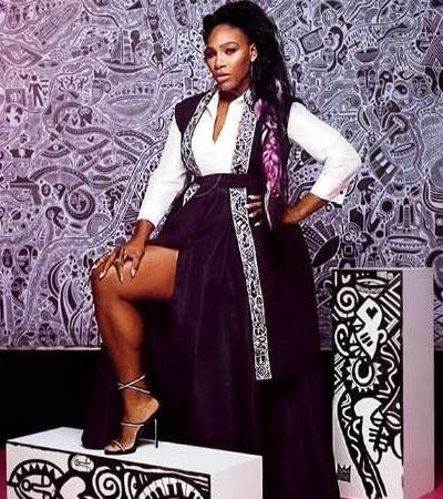Serena stuns in kimono designed by Nigerian