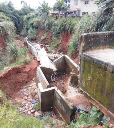 Erosion Sacks Amawbia Community 300 Homes Cut Off 4,000 School Children Out Of Schools Two Escape Death