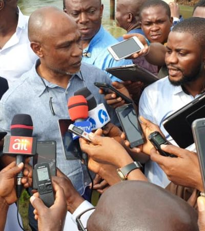 National Assembly Members Protest Over Deplorable State Of Aleto/Akpajo Bridge