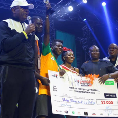 The Unbeatable Abdul Titi Kone Re-Emerges African Freestyle Football Champion