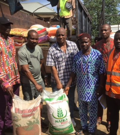 SEMA distributes relief materials to Anambra flood victims
