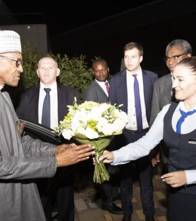 Buhari Arrives Sochi For Russia – Africa Summit