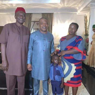 Ihedioha Adopts Pupil As Family Member