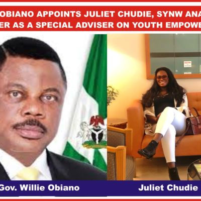 Obiano Appoints Juliet Chudie Special Adviser On Youth Empowerment
