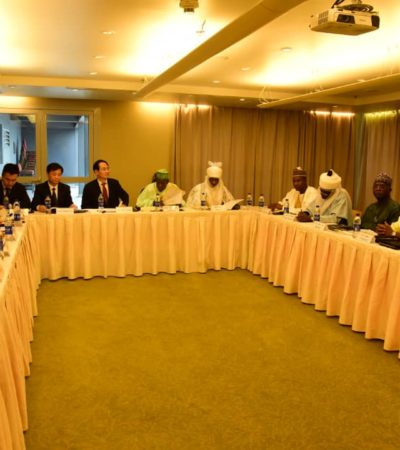 Ganduje, Kano Emir Meet Chinese Investors In Lagos, To leave for China soon