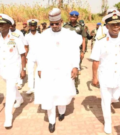 Gov Bello inaugurates Naval Base in Kogi