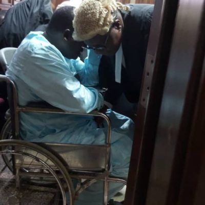 Maina appears in court in wheel chair for bail application