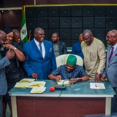 Ihedioha Signs 3 Bills Into Law, Hails Imo Assembly